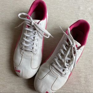 Puma Speed Cat Pink/White Leather Sneakers